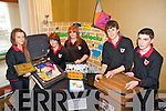 WINNERS: Caoilfhionn Cullinane, Leona Spillane, Poppy Overy, Michael Mullally and John Joe Hussey from Mean Scoil an Leith Triuigh, Castlegregory winners of the County Final of the Kerry County Enterprise Boards Annual Student Enterprise Awards held on Tuesday in the Carlton Hotel, Tralee.