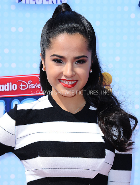 WWW.ACEPIXS.COM<br /> <br /> April 26 2014, LA<br /> <br /> Becky G arriving at the 2014 Radio Disney Music Awards at Nokia Theatre L.A. Live on April 26, 2014 in Los Angeles, California.<br /> <br /> <br /> By Line: Peter West/ACE Pictures<br /> <br /> <br /> ACE Pictures, Inc.<br /> tel: 646 769 0430<br /> Email: info@acepixs.com<br /> www.acepixs.com