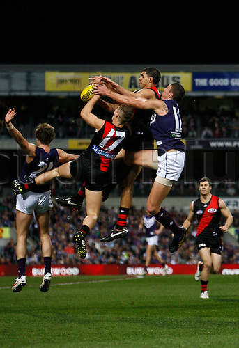 23.06.2012 Subiaco, Australia. Fremantle v Essendon. Action during the Round 13 game played at Patersons Stadium.