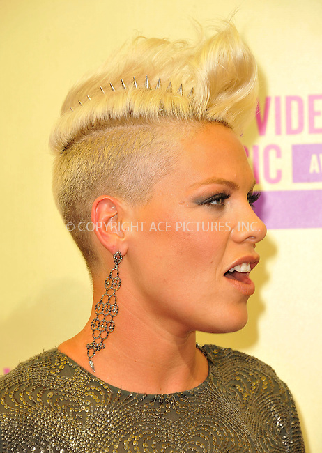 WWW.ACEPIXS.COM....September 6, 2012, Los Angeles, CA.......Pink arriving at the 2012 MTV Video Awards at the Staples Center on September 6, 2012 in Los Angeles, California. ..........By Line: Peter West/ACE Pictures....ACE Pictures, Inc..Tel: 646 769 0430..Email: info@acepixs.com