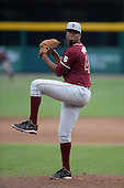 Florida State Seminoles designated hitter / relief pitcher Jameis Winston (44) delivers a pitch during a game against the South Florida Bulls on March 5, 2014 at Red McEwen Field in Tampa, Florida.  Florida State defeated South Florida 4-1.  (Copyright Mike Janes Photography)