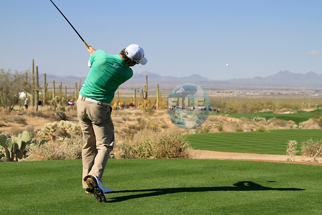 Rory McIlroy (N.IRL) teeing off on the 1st tee during Day 2 of the Accenture Match Play Championship from The Ritz-Carlton Golf Club, Dove Mountain. (Photo Eoin Clarke/Golffile 2011)