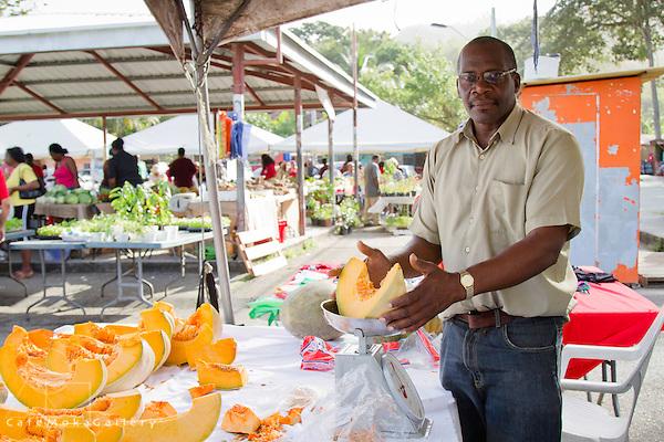 Farmer's Market - fruit and vegetables -pumpkin man Diego Martin