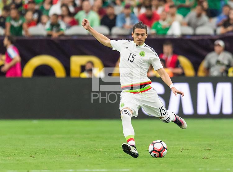 GLENDALE, AZ - June 5, 2016: The 2016 COPA America Centenario Group C match, Mexico vs Uruguay at The University of Phoenix Stadium. Final score, Mexico 3, Uruguay 1.