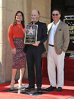 Actor Ed Harris with Marcia Gay Harden &amp; Andy Garcia on Hollywood Boulevard where he was honored with the 2,546th star on the Hollywood Walk of Fame.<br /> March 13, 2015  Los Angeles, CA<br /> Picture: Paul Smith / Featureflash