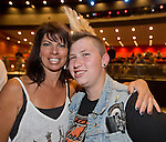 Rachel Barr and Kelly Oxborrow from Reno attend the Billy Idol Concert in the Grand Sierra Resort's Grand Theatre on Friday night, August 7, 2015.