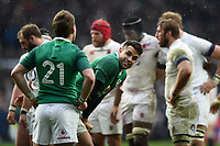Conor Murray of Ireland looks on. Natwest 6 Nations match between England and Ireland on March 17, 2018 at Twickenham Stadium in London, England. Photo by: Patrick Khachfe / Onside Images