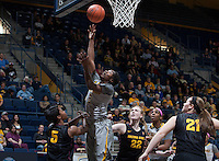 Afure Jemerigbe of California shoots the ball during the game against Arizona State at Haas Pavilion in Berkeley, California on February 16th, 2014.  California defeated Arizona State, 74-63.