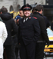 NEW YORK, NY - DECEMBER 8: James Corden filming scenes for The Late Late Show With James Corden segment, Crosswalk The Musical in New York City on December 8, 2017. Credit: RW/MediaPunch /nortephoto.com NORTEPHOTOMEXICO