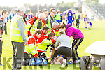 Brian Crowley Kenmare receives medical attention in the Senior County Football Semi Final in Fitzgerald Stadium on Sunday.