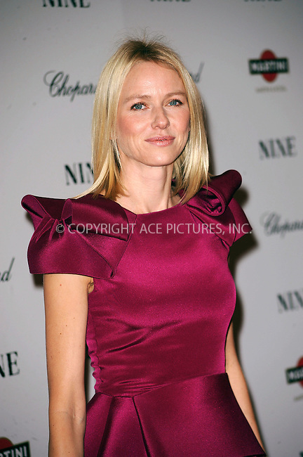 WWW.ACEPIXS.COM . . . . . ....December 15 2009,  New York City....Naomi Watts arriving at the New York premiere of 'Nine' at the Ziegfeld Theatre on December 15 2009 in New York City....Please byline: KRISTIN CALLAHAN - ACEPIXS.COM.. . . . . . ..Ace Pictures, Inc:  ..(212) 243-8787 or (646) 679 0430..e-mail: picturedesk@acepixs.com..web: http://www.acepixs.com
