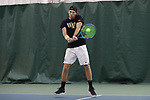 WINSTON-SALEM, NC - JANUARY 23: Wake Forest's Ian Dempster. The Wake Forest University Demon Deacons hosted Coastal Carolina University on January 23, 2018 at Wake Forest Tennis Complex in Winston-Salem, NC in a Division I College Men's Tennis match. Wake Forest won the match 6-1.