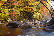 Swift River during the autumn months near the Kancamagus Highway (route 112) which is one of New England's scenic byways. Located in the White Mountains, New Hampshire USA