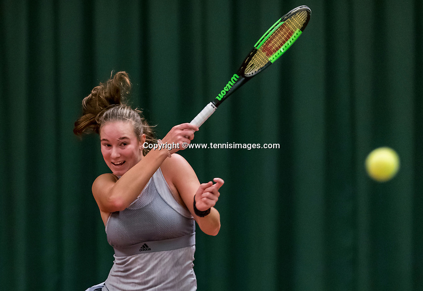 Wateringen, The Netherlands, November 27 2019, De Rhijenhof , NOJK 12 and16 years,  Anouk Koevermans (NED)<br /> Photo: www.tennisimages.com/Henk Koster
