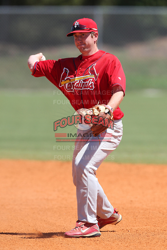 St. Louis Cardinals minor league player Packy Elkins #49 during a spring training game vs the New York Mets at the Roger Dean Sports Complex in Jupiter, Florida;  March 24, 2011.  Photo By Mike Janes/Four Seam Images
