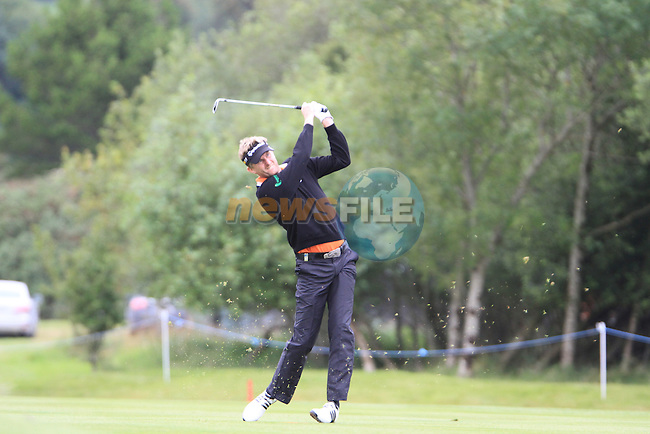 David Lynn (ENG) in action on the 18th hole during Day 1 Thursday of The Irish Open presented by Discover Ireland at Killarney Golf & Fishing Club on Wednesday 28th July 2011 (Photo Jenny Matthews/www.golffile.ie)