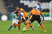 Blackburn Rovers' Bradley Dack is tackled by Hull City's Kevin Stewart<br /> <br /> Photographer Dave Howarth/CameraSport<br /> <br /> The Premier League - Hull City v Blackburn Rovers - Tuesday August 20th 2019  - KCOM Stadium - Hull<br /> <br /> World Copyright © 2019 CameraSport. All rights reserved. 43 Linden Ave. Countesthorpe. Leicester. England. LE8 5PG - Tel: +44 (0) 116 277 4147 - admin@camerasport.com - www.camerasport.com