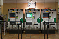 Go Transit ticket booths are pictured in Toronto Union Station April 22, 2010. GO Transit (reporting mark GOT) is an interregional public transit system in Southern Ontario, Canada.