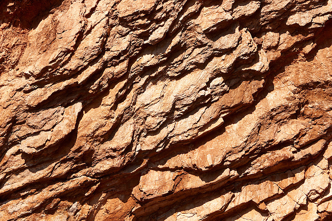 The layers of Sandstone on Ios Island Greece