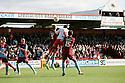 Darius Charles of Stevenage heads goalwards. Stevenage v Scunthorpe United - npower League 1 -  Lamex Stadium, Stevenage - 6th October, 2012. © Kevin Coleman 2012