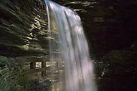 Scenic view of the falls and rocks at Watkins Glen State Park, Watkins Glen, NY, May 2001.  (Photo by Brian Cleary/www.bcpix.com)