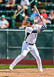 3 September 2018: Vermont Lake Monsters outfielder Payton Squier in action against the Tri-City ValleyCats at Centennial Field in Burlington, Vermont. The Lake Monsters defeated the ValleyCats 9-6 in the last game of the 2018 NY Penn League regular season. Mandatory Credit: Ed Wolfstein Photo *** RAW (NEF) Image File Available ***