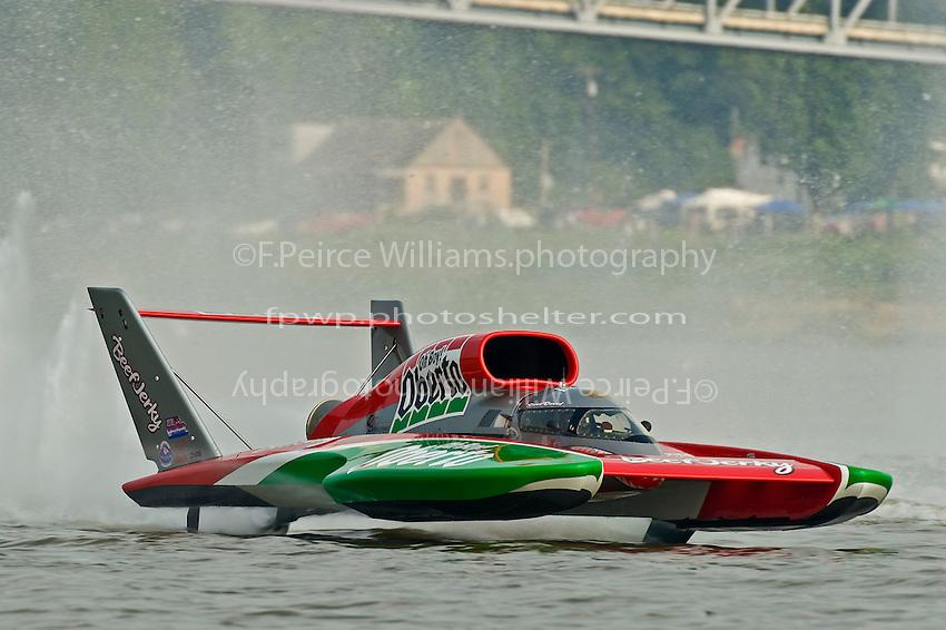 """6 July 2008 Madison Regatta.Steve David, U-6 """"Oh Boy! Oberto"""".©2008 F.Peirce Williams."""