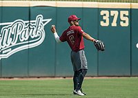 NWA Democrat-Gazette/BEN GOFF @NWABENGOFF<br /> Carlos Cortes of South Carolina Friday, June 8, 2018, during practice for the NCAA Fayetteville Super Regional at Baum Stadium.