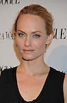 LOS ANGELES, CA. - March 02: Amber Valletta attends the Vera Wang Store Launch at Vera Wang Store on March 2, 2010 in Los Angeles, California.