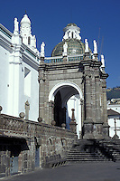 The neoclasical style cathedral in old Quito, Ecuador. Old Quito was made a UNESCO World Heritage Site in 1978.