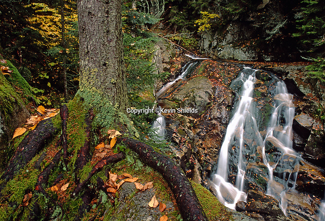 Huntington Falls, Dixville Notch State Park, Dixville, New Hampshire, USA