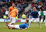 05.05.2019 Rangers v Hibs: Grado fires in a tackle