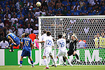 09 July 2006: Fabio Cannavaro (ITA) (5) heads the ball over the bar. Italy tied France 1-1 in overtime at the Olympiastadion in Berlin, Germany in match 64, the championship game, of the 2006 FIFA World Cup Finals. Italy won the World Cup by defeating France 5-3 on penalty kicks.