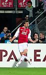 Nederland, Alkmaar, 29 maart 2012.Europa League.Seizoen 2011-2012.AZ-Valencia .Brett Holman van AZ juicht na het scoren van de 1-0