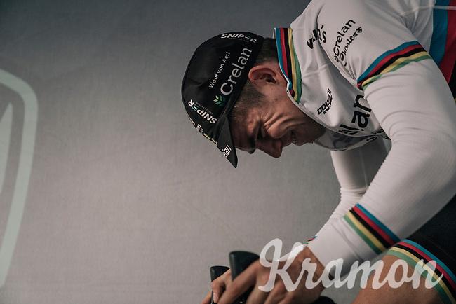 CX world champion Wout Van Aert (BEL/Crelan-Charles) warming up pre-race<br /> <br /> Super Prestige Ruddervoorde / Belgium 2017