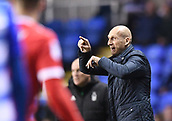 31st October 2017, Madejski Stadium, Reading, England; EFL Championship football, Reading versus Nottingham Forest; Jaap Stam of Reading gestures
