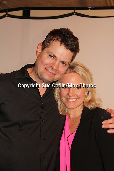 "As The World Turns' Terri Conn poses with Trent Dawson who wrote ""The F"" held a Benefit for the film on June 22, 2018 at the Freeman Studio, New York City, New York. (Photo by Sue Coflin/Max Photo)"