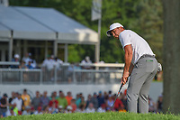 Jason Day (AUS) watches his putt on 18 during 4th round of the World Golf Championships - Bridgestone Invitational, at the Firestone Country Club, Akron, Ohio. 8/5/2018.<br /> Picture: Golffile | Ken Murray<br /> <br /> <br /> All photo usage must carry mandatory copyright credit (© Golffile | Ken Murray)