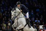 Emanuele Gaudiano on Caspar 232 competes during Longines Grand Prix at the Longines Masters of Hong Kong on 21 February 2016 at the Asia World Expo in Hong Kong, China. Photo by Victor Fraile / Power Sport Images