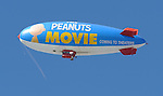 Blimp at The Peanuts Movie premiere held at the Regency Village Theaters Los Angeles, CA. November 1, 2015