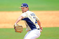 22 April 2012:  FIU pitcher Christian Malbrough (26) pitches in relief as the University of Arkansas Little Rock Trojans defeated the FIU Golden Panthers, 7-6, at University Park Stadium in Miami, Florida.