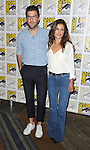 Zachary Quinto and Hannah Ware arriving at the Hitman: Agent 47 Panel at Comic-Con 2014  at the Hilton Bayfront Hotel in San Diego, Ca. July 25, 2014.
