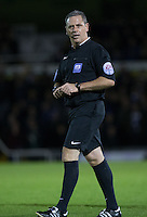 Referee Brendan Malone during the Sky Bet League 2 rearranged match between Bristol Rovers and Wycombe Wanderers at the Memorial Stadium, Bristol, England on 1 December 2015. Photo by Andy Rowland.