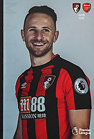Marc Pugh of AFC Bournemouth on the front of the match day programme during AFC Bournemouth vs Arsenal, Premier League Football at the Vitality Stadium on 14th January 2018