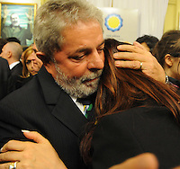 President of Brazil Luiz Inacio Lula da Silva comforts President of  Argentina  Cristina Fernandez during the funeral of her husband Nestor Kirchner at Presidential Palace in Buenos Aires,  Thursday, October 28, 2010.