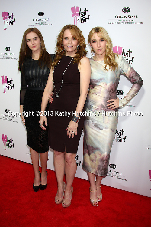"""LOS ANGELES - APR 13:  Zoey Deutch, Lea Thompson, Madelyn Deutch arrives at the """"What A Pair!"""" Benefit Concert  at the The Broad Stage  on April 13, 2013 in Santa Monica, CA"""