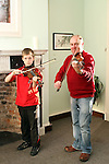 Conor Kelly and Tony Linnane at the Traditional Music Workshops in Barlow House...(Photo credit should read Jenny Matthews www.newsfile.ie)....This Picture has been sent you under the conditions enclosed by:.Newsfile Ltd..The Studio,.Millmount Abbey,.Drogheda,.Co Meath..Ireland..Tel: +353(0)41-9871240.Fax: +353(0)41-9871260.GSM: +353(0)86-2500958.email: pictures@newsfile.ie.www.newsfile.ie.