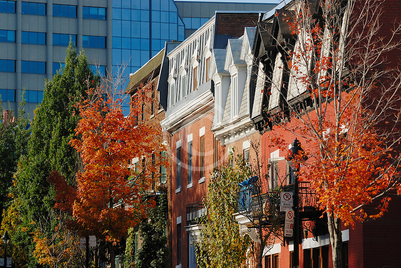 Canada, Montreal, Row houses