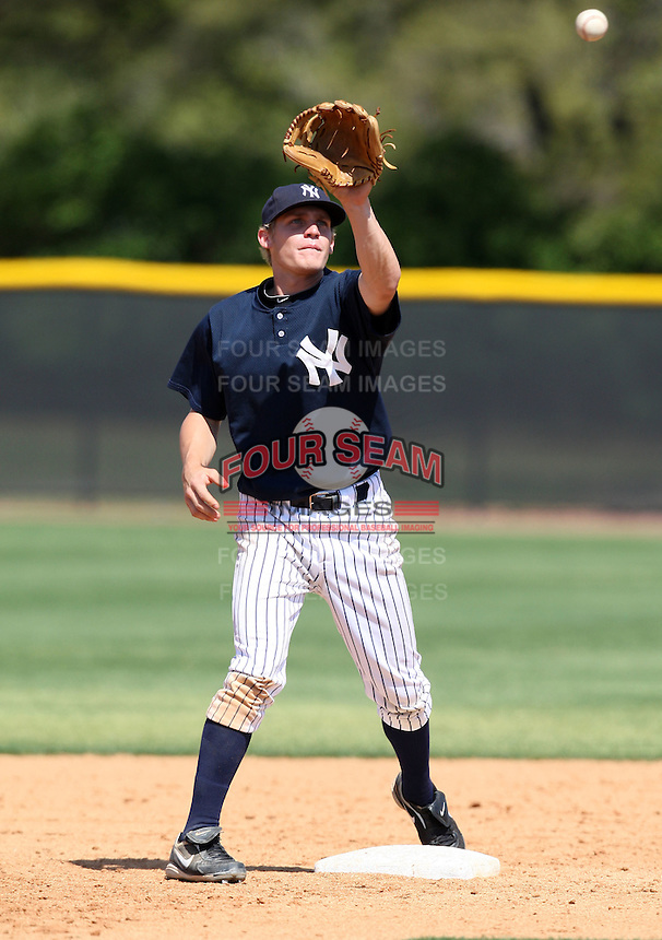 March 31, 2010:  Second Baseman Corban Joseph of the New York Yankees organization during Spring Training at Yankees Training Complex in Tampa, FL.  Photo By Mike Janes/Four Seam Images