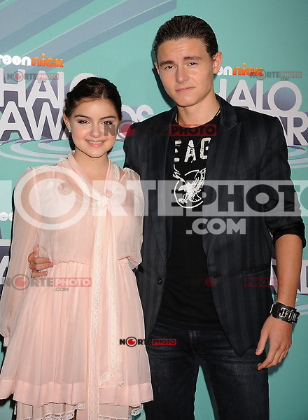 HOLLYWOOD, CA - OCTOBER 26: Ariel Winter and Callan McAuliffe arrive at the 3rd Annual TeenNick HALO Awards at Hollywood Palladium on October 26, 2011 in Hollywood, California. /NortePhoto.com<br />
